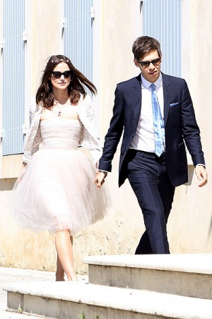 USA-AUS ONLY Keira Knightley and James Righton romantic wedd