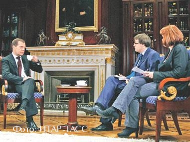 Дмитрий Медведев и финские журналисты