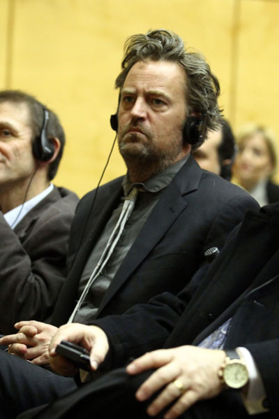 Matthew Perry speaks out in Rome